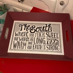 """Definition of """"The South"""" serving tray"""